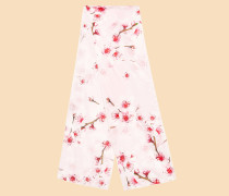 Schmaler Seidenschal mit Soft Blossom-Print