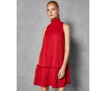 Hochgeschlossenes Kleid mit Rüschen