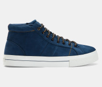 Hohe Sneakers aus Leder