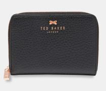 Kleines Zip-Portemonnaie aus Strukturiertem Leder