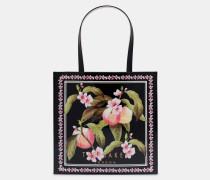 Große Icon-tasche Mit Peach Blossom-print