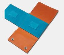 Aufklappbare Geldschein-Klammer aus Leder