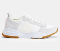Sneakers aus Veloursleder mit Mehrlagiger Sohle