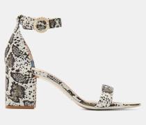 Bedruckte Sandalen mit Blockabsatz