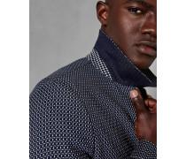 Texturierte Jacke mit Reißverschluss