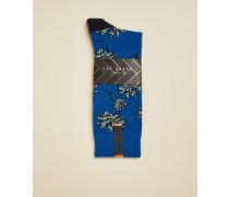 Socken aus Baumwolle mit Blätterprint