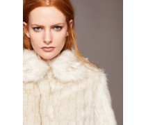 Mantel mit Kunstpelz-Kragen