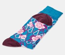 Baumwollsocken mit Floralem Print