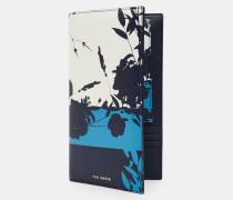 Reiseportemonnaie aus Leder mit Bluebell-Print
