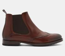 Chelsea-Stiefel aus Leder mit Flügelkappe