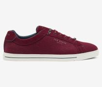 Derby-Sneakers aus Veloursleder und Wolle