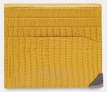 Aufklappbares Kartenetui aus Leder im Eidechsenlook