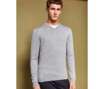 Pullover mit V-Ausschnitt aus Kaschmir-Mix