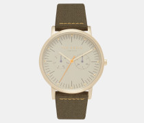 Armbanduhr mit Webmaterial