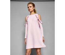 Schulterfreies Kleid mit Rüschendetail
