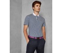 Baumwoll-Polohemd mit Hexagon-Print