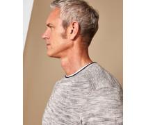 Pullover aus Leinenmischung mit Rippdetail