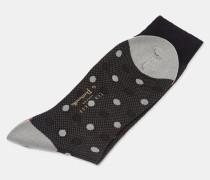 Wollsocken mit Spiralen- und Punkte-Print