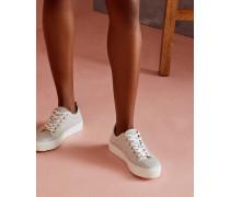 Leder-Sneakers mit Kiesel-Print