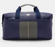 Gestreifte Reisetasche aus Leder