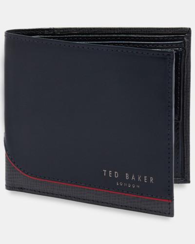 Aufklappbares Leder-portemonnaie Mit Münzfach