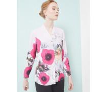 Bluse mit Neon Poppy-Print