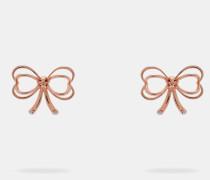 Ohrringe mit Kleiner Herzförmiger Schleife