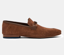 Dekonstruierte Veloursleder-Loafer