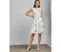 Kleid mit Gestickten Schleifen und Fortune-Print