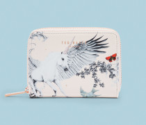 Kleines Leder-Portemonnaie mit Enchanted Dream-Print