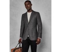 Schmale, Halbglatte Anzugjacke aus Wolle