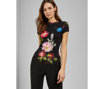 Tailliertes T-Shirt mit Berry Sundae-Print