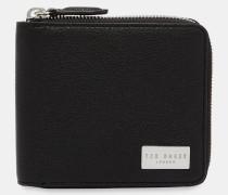 Leder-Portemonnaie mit Zipper