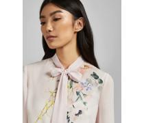 Gerüschte Bluse mit Elegant-Print
