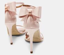 Hohe Sandalen mit Schleife