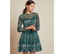 Diamond Long Sleeved Mini Dress