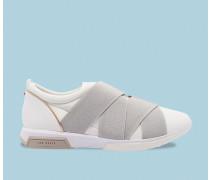 Leder-sneakers Mit Elastikriemen