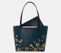 Mini-Leder-Shopper mit Arboretum-Print