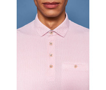 Baumwoll-Polohemd mit Mini-Geometrischem Print