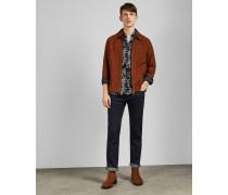 Marineblaue Jeans im Original-Fit