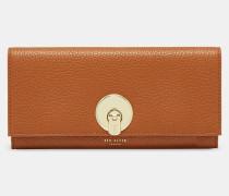 Leder-portemonnaie Mit Runder Schließe
