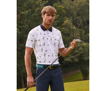 Polohemd mit Golf-Print