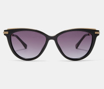 Katzenaugen-Sonnenbrille mit Metalldetails