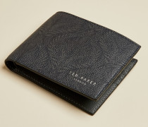 Portemonnaie aus Leder mit Jacquard-Print