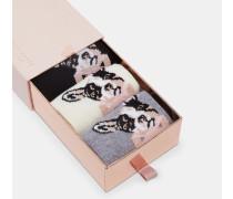 Socken-Set mit Hundemotiv im Dreierpack