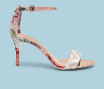 Hohe Sandalen mit Bedrucktem Knöchelriemen