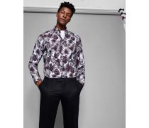 Baumwollhemd mit Phormal Blatt-Print
