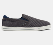 Slip-On Suede And Wool Trainers
