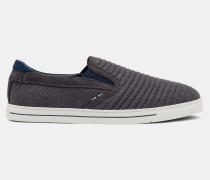Slip-On-Sneakers aus Wildleder und Wolle