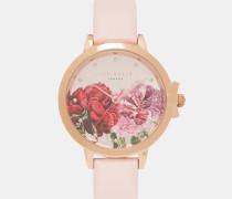 Uhr Mit Zifferblatt Mit Palace Gardens-print